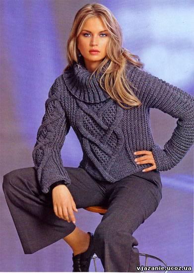 Свитера женские вязание спицами фото